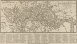 London, extending from the Head of Paddington Canal west, to the West India Docks east: with the proposed improvements between the Royal Exchange & Finsbury Square